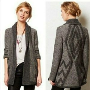 Anthropologie Angel of the North wool open cardiga